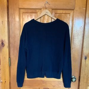 Abercrombie & Fitch Tops - Abercrombie & Fitch embroidered sweatshirt. Navy